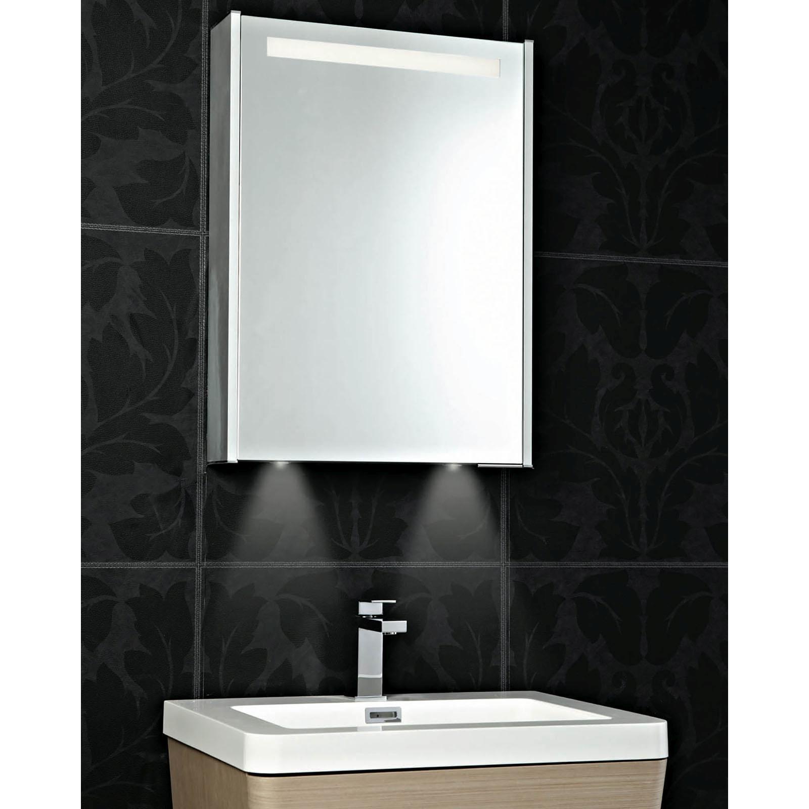 Phoenix Bathrooms - Mercury Single Door Mirrored Cabinet